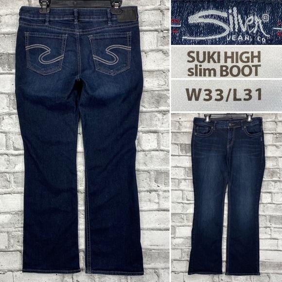 Silver Suki High Slim Boot 33 x 31 Bootcut Jeans